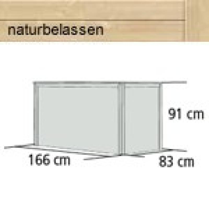Karibu Hochbeet 2 (166 x 83 x 91 cm) - natur
