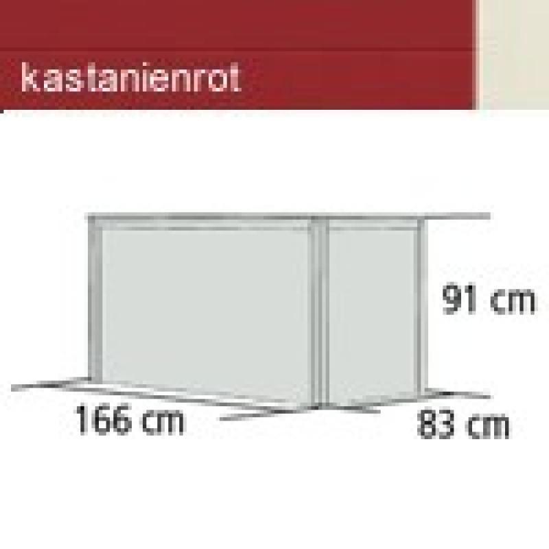 Karibu Hochbeet 2 (166 x 83 x 91 cm) - kastanienrot
