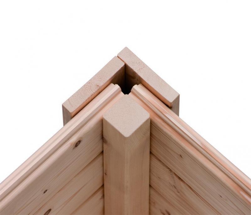 Woodfeeling Gartenhaus Flachdach Tintrup - 28 mm Systemhaus - natur