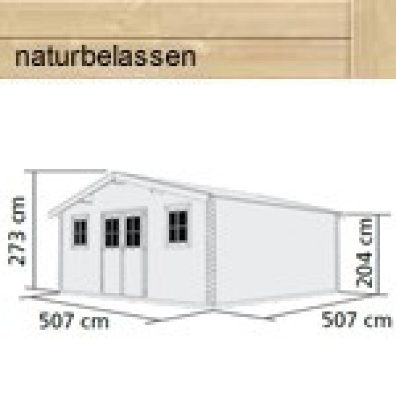 woodfeeling gartenhaus felsenau 8 satteldach 38 mm blockbohlenhaus natur. Black Bedroom Furniture Sets. Home Design Ideas