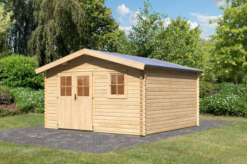 woodfeeling gartenhaus felsenau 6 satteldach 38 mm blockbohlenhaus natur. Black Bedroom Furniture Sets. Home Design Ideas