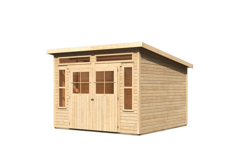 karibu gartenhaus tinkenau 8 pultdach 19 mm system natur. Black Bedroom Furniture Sets. Home Design Ideas
