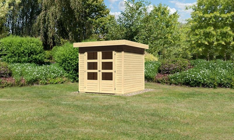 Woodfeeling Gartenhaus Askola 2 Pultdach 19 mm System - natur