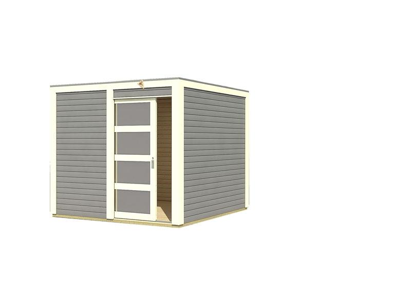 Karibu Gartenhaus Sparset Cubini 19 mm terragrau, inkl. 2 x selbstklebende Premium-Aluminiumfolie