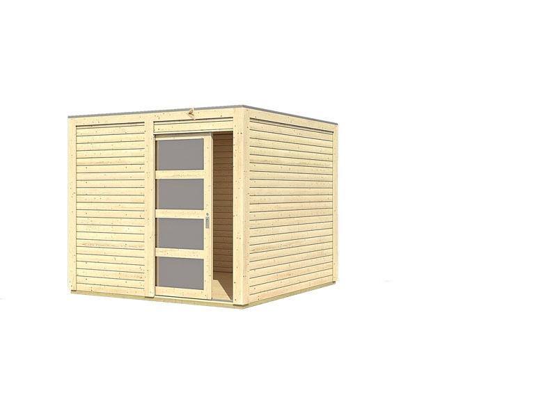 Karibu Gartenhaus Sparset Cubini 19 mm naturbelassen, inkl. 2 x selbstklebende Premium-Aluminiumfolie