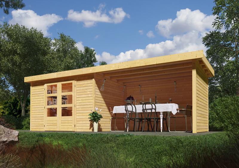 Woodfeeling Gartenhaus Askola 3 Pultdach 19 mm System inkl ...