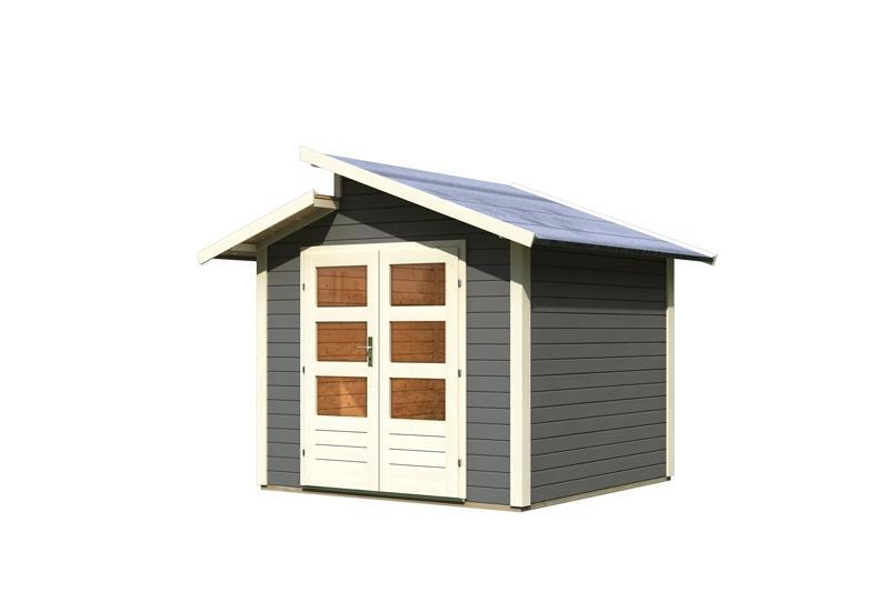 karibu gartenhaus gartenhaus gr nelo stufendach 28 mm. Black Bedroom Furniture Sets. Home Design Ideas