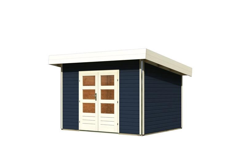 karibu gartenhaus moosburg 2 pultdach 40 mm system opalgrau. Black Bedroom Furniture Sets. Home Design Ideas