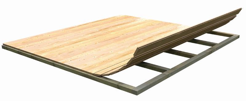 Woodfeeling: Fußboden für Sockelmaß 4,60x4,60   - naturbelassen
