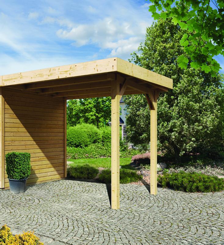 karibu schleppdach kombinierbar zu m hlendorf 5 farbe natur. Black Bedroom Furniture Sets. Home Design Ideas