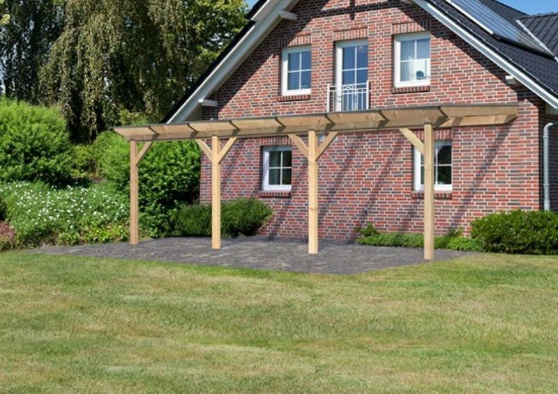 TerrassenUberdachung Holz Douglasie ~ Karibu Holz Terrassenüberdachung Modell 2 Premium  Größe C (300 x