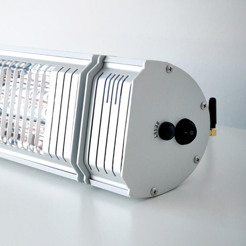 VASNER Infrarot Heizstrahler Appino 20 - Terrassenstrahler - Infrarotstrahler - Fernbedienung und App Steuerung - 2000 Watt - Farbe: silber