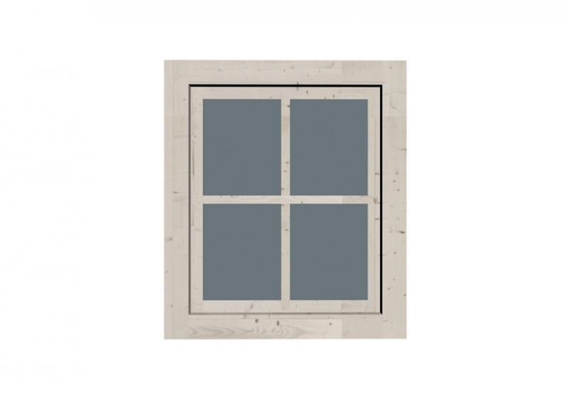 Karibu Gartenhausfenster Dreh-/Kipptechnik rechteckig für 28 mm Wandstärke - elfenbeinweiss