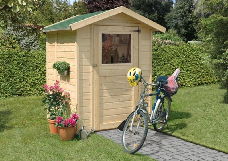 Karibu Gartenhaus Relin 1  - 14 mm Gerätehaus in Systembauweise - naturbelassen