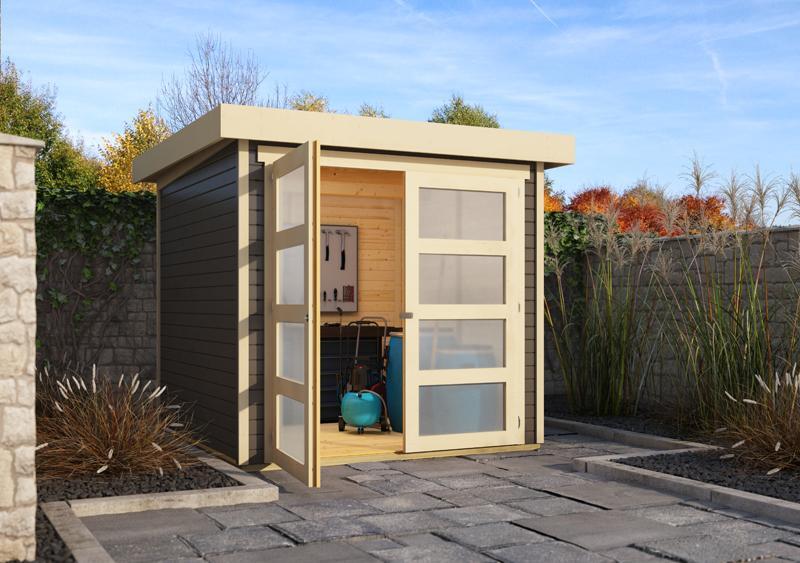 Karibu Holz Gartenhaus 19mm Muhlendorf 2 Im Set Mit Anbaudach 2 40 M