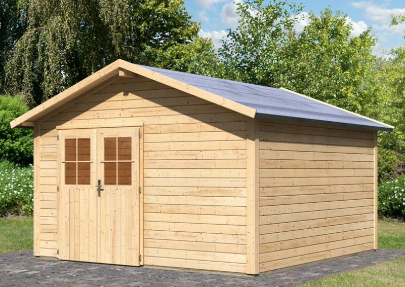 Karibu Holz-Gartenhaus Oldeborg 2 - 28 mm Wandstärke Eco Steck- und Schraubsystem, - naturbelassen