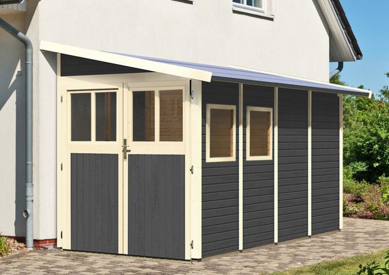 gartenhaus mit zwei rumen amazing karibu gartenhaus. Black Bedroom Furniture Sets. Home Design Ideas