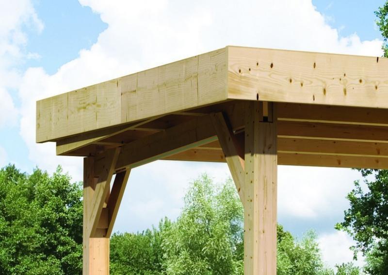 Karibu  Schleppdach für  Mühlendorf 5 - naturbelassen
