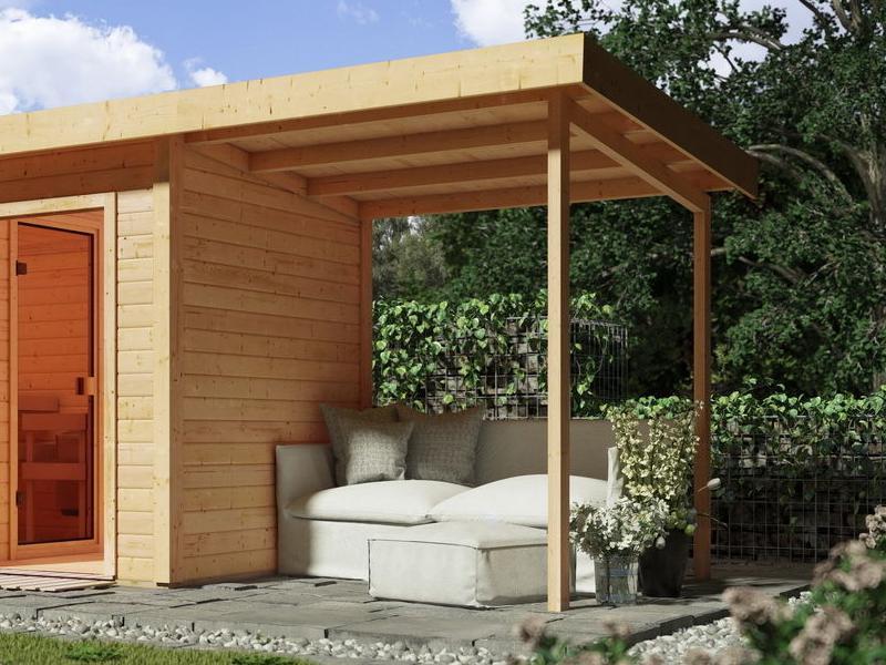 karibu holz gartenhaus 19mm schleppdach f r gl cksburg 2 naturbelassen. Black Bedroom Furniture Sets. Home Design Ideas