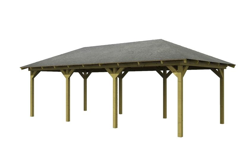 Karibu Holzpavillon Perida 2 4-Eck-Pavillon Eco - kdi
