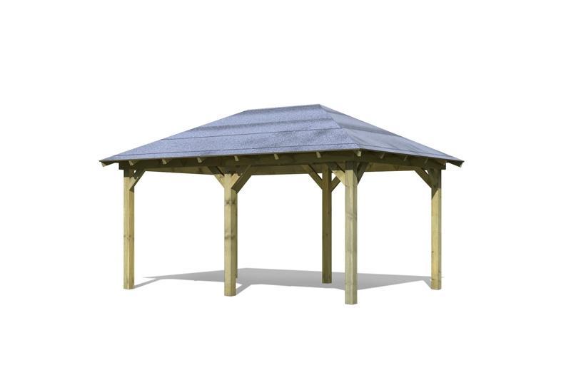 Karibu Holzpavillon Perida 1 4-Eck-Pavillon Eco - kdi
