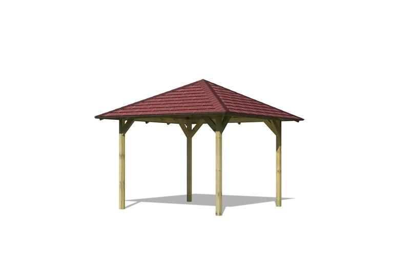 Sonderangebot: Karibu Holzpavillon Sevilla 4-Eck-Pavillon Eco - kdi