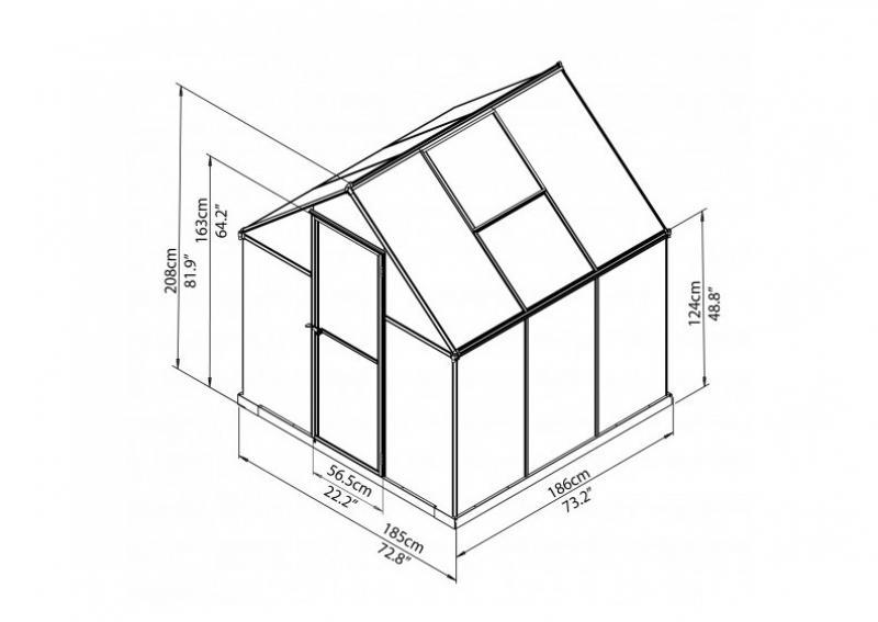 Tepro Gewächshaus Mythos 6x6