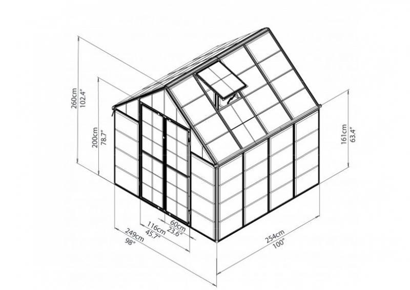 Tepro Gewächshaus Snap & Grow 8x8