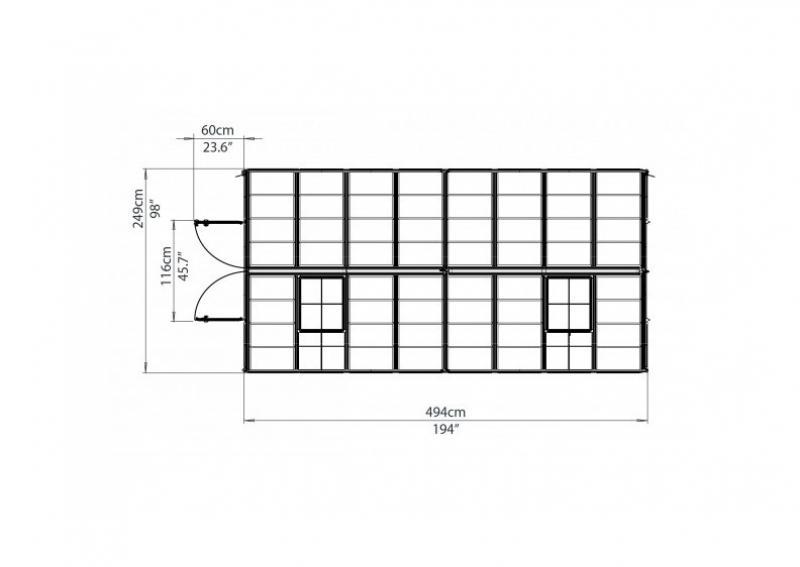 Tepro Gewächshaus Snap & Grow 8x16