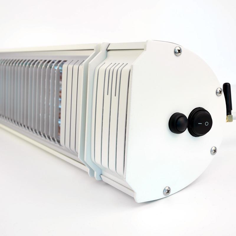 VASNER Infrarot Heizstrahler Appino 20 - Terrassenstrahler - Infrarotstrahler - Fernbedienung und App Steuerung - 2000 Watt - Farbe: weiß