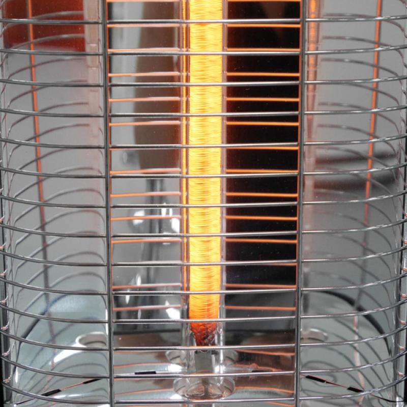 VASNER StandLine 12 Infrarot-Standheizstrahler Carbon 1200 Watt - Farbe schwarz