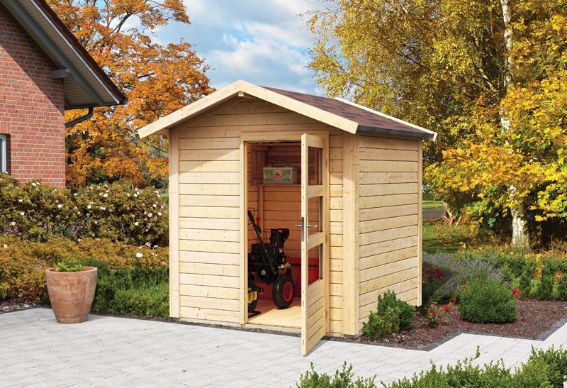woodfeeling karibu holz gartenhaus talkau 4 in naturbelassen unbehandelt. Black Bedroom Furniture Sets. Home Design Ideas