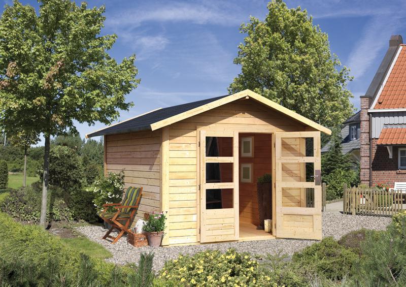 woodfeeling karibu holz gartenhaus talkau 9 in terragrau. Black Bedroom Furniture Sets. Home Design Ideas