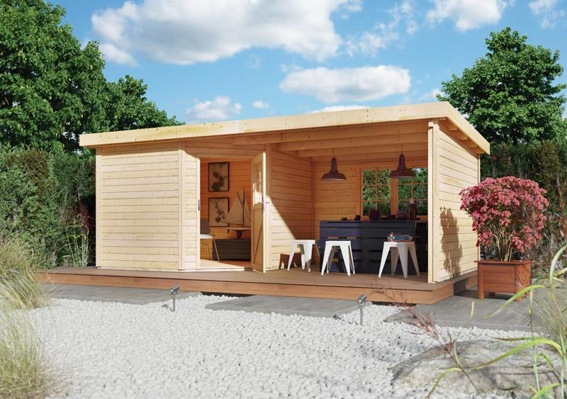 Sonderangebot: Woodfeeling Gartenhaus: Neuruppin 2 im Set mit