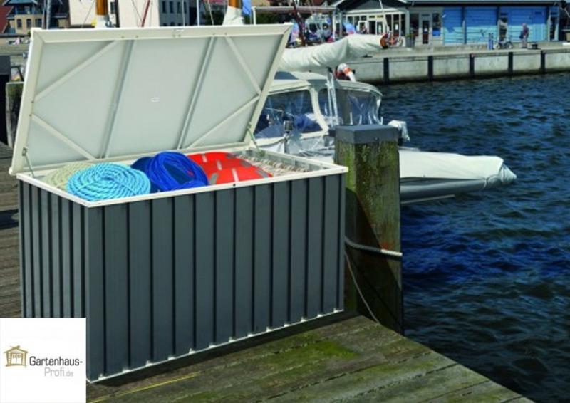 Tepro Metall Aufbewahrungsbox 135x70 - anthrazit-weiß