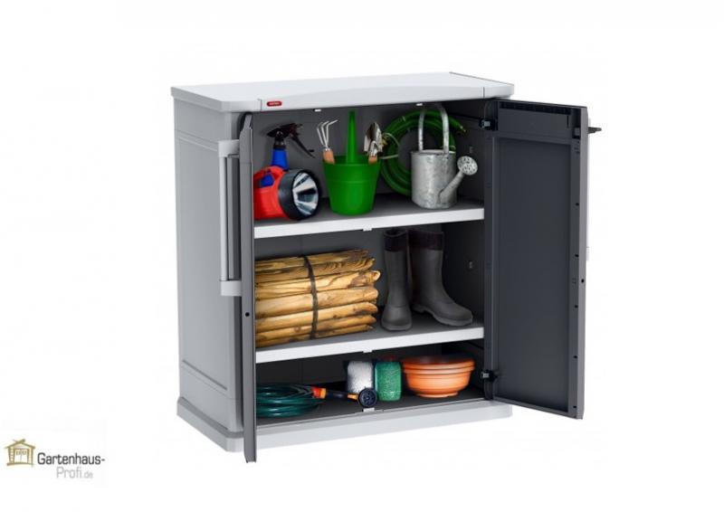 Tepro Kunststoff Aufbewahrungsschrank Optima Base Cabinet   Hellgrau Grau