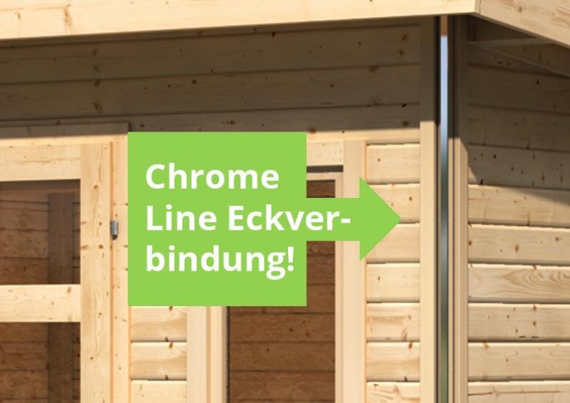 Karibu Holz-Gartenhaus Tecklenburg 1 Pultdach 40 mm System - natur