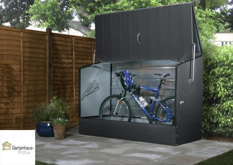 Tepro metall fahrradbox anthrazit for Metall gartenhaus