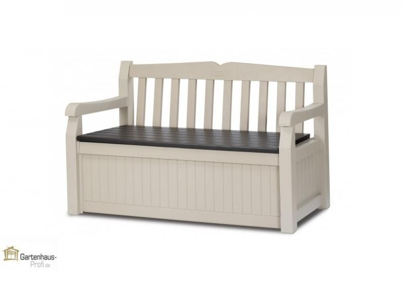 tepro kunststoff aufbewahrungsbox gartenbank garden bench 265 liter beige braun. Black Bedroom Furniture Sets. Home Design Ideas