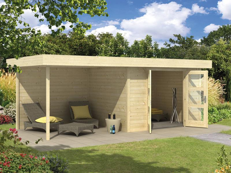 wolff finnhaus gartenhaus calais mit anbau u r ckwand 2017 wandma e b x t in cm 555 x 250. Black Bedroom Furniture Sets. Home Design Ideas