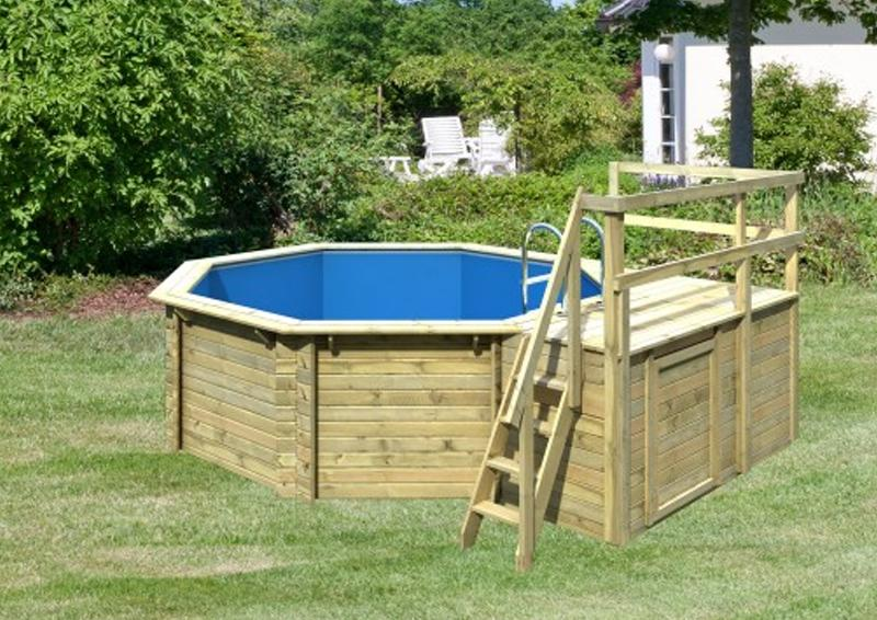 Karibu pool holz swimmingpool achteck modell c1 400 x 480 for Garten pool hersteller