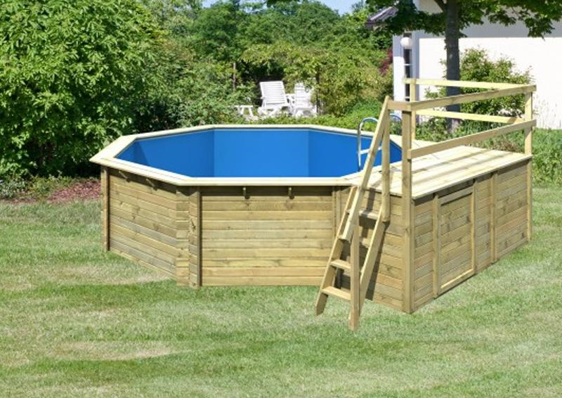 karibu pool holz swimmingpool achteck modell c2 470 x 550 cm kdi inkl sonnenterrasse. Black Bedroom Furniture Sets. Home Design Ideas