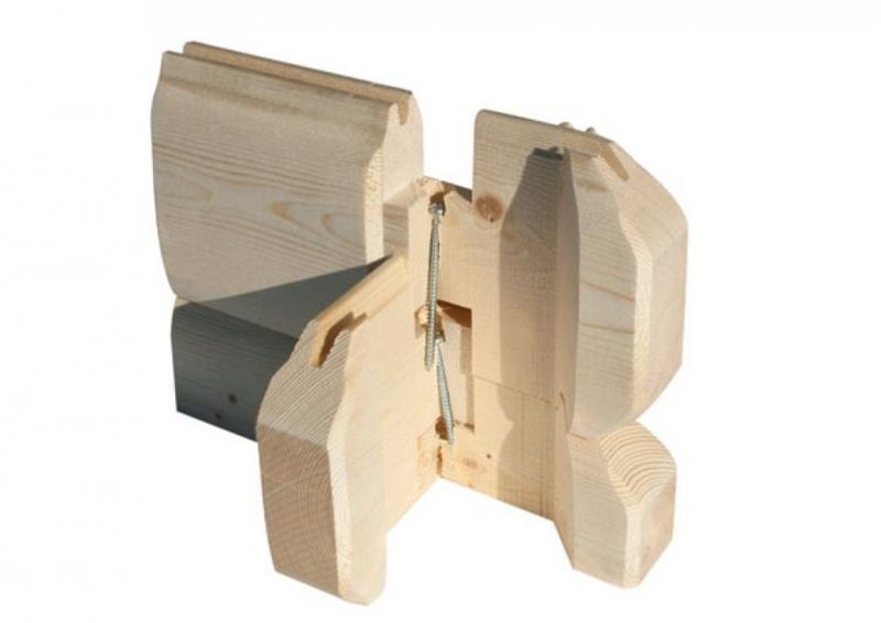 Woodfeeling Holz-Gartenhaus Kardur Satteldach 28 mm Blockbohlenhaus Mittelwandhaus- natur
