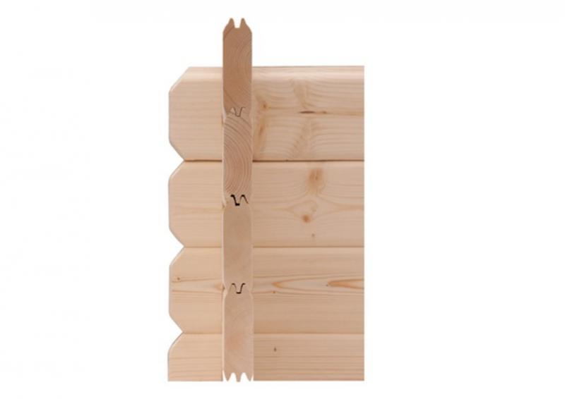 Woodfeeling Gartenhaus Lagor 2 Satteldach 38 mm Blockbohlenhaus Mittelwandhaus- natur