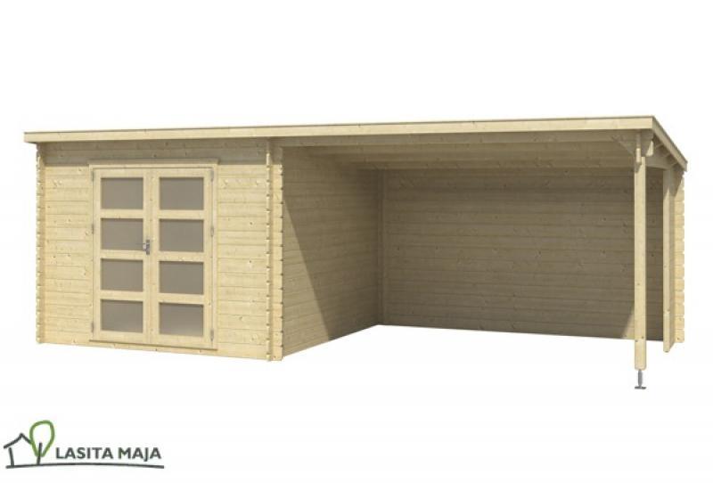 gartenhaus flachdach novia inkl schleppdach und dachpappe. Black Bedroom Furniture Sets. Home Design Ideas