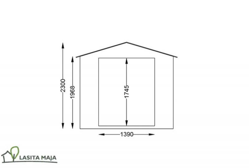 Lasita Maja Gartenhaus Blockbohlenhaus Satteldach Ingo 172 inkl. Dachpappe