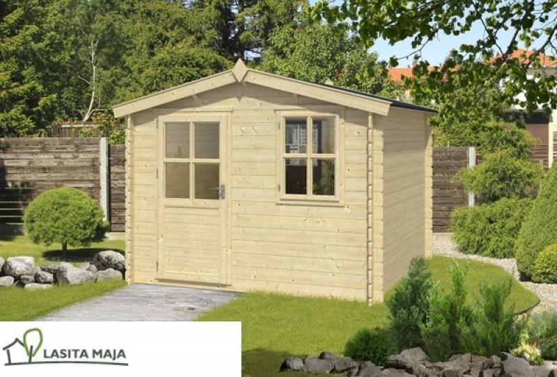 Lasita Maja Gartenhaus Blockbohlenhaus Satteldach Nina 230 inkl. Dachpappe