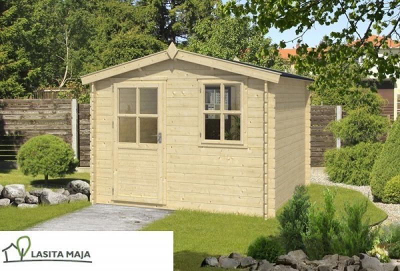Lasita Maja Gartenhaus Blockbohlenhaus Satteldach Nina 272 inkl. Dachpappe