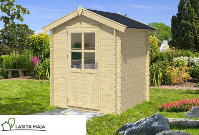 gartenhaus satteldach ivana inkl schleppdach und dachpappe. Black Bedroom Furniture Sets. Home Design Ideas