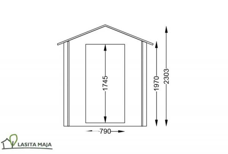 gartenhaus blockbohlenhaus satteldach jesse172 inkl dachpappe. Black Bedroom Furniture Sets. Home Design Ideas